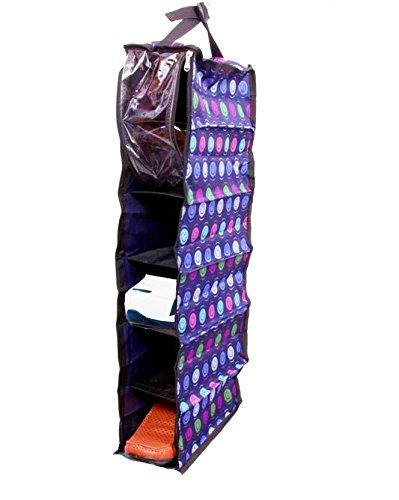 ATORAKUSHON Printed Hanging Fabric Cabinet Cum Shoe Rack (Multicolour)