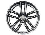 Yx-outdoor Cerchio in Lega a 5 Razze, Offset 45, tornio per Audi A4l A6l Volkswagen CC Golf Magotan Tiguan (1PC),Gray,18X8J