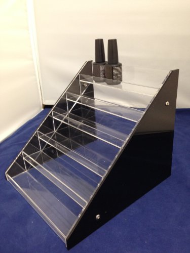 *NEW* Nail Polish Table Rack Display Counter (Fit up to 36 Bottles) w/Black Side & Acrylic Clear Middle by CoCo-Shop Counter Rack