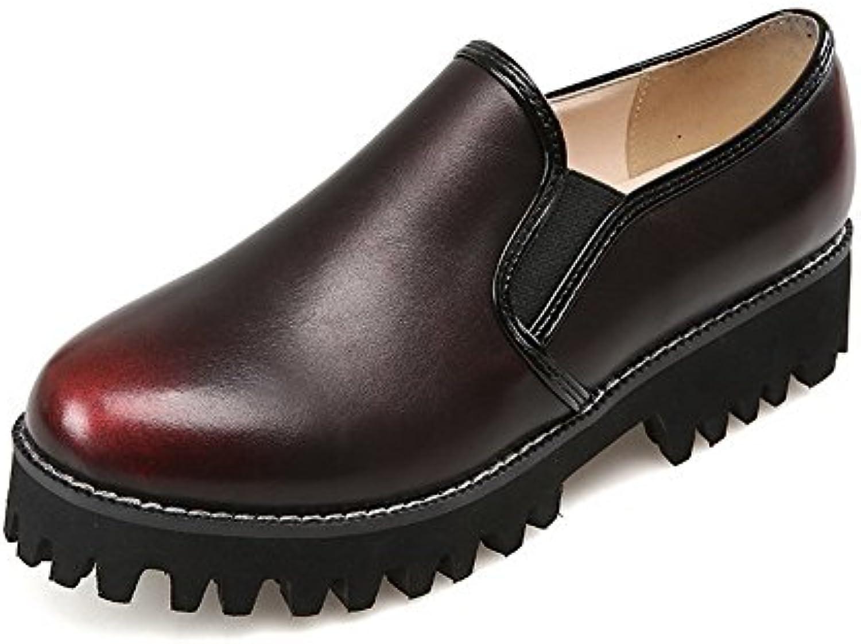 les les les femmes de couleur allhqfashion pu des bouts fermés - pompes à talons bas sur les chaussures d7aef0