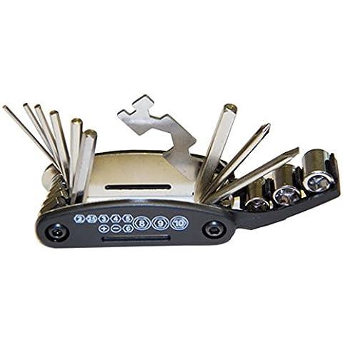Bike Repair Tool, Northern Brothers, 16 funzioni in 1, con utensile multiuso per riparazione gomme bici