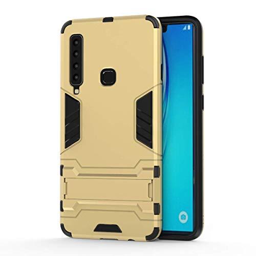 Gray Plaid Coque Samsung Galaxy A9 (2018),Double Couche Hybride Antichoc Armure Tout Le Corps Protecteur Téléphone Cas Couverture avec béquille pour Samsung Galaxy A9 (2018) - Or