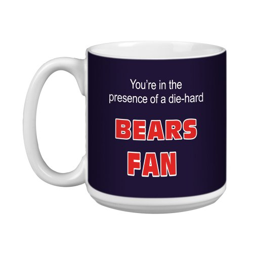 Tree-Free Greetings XM28112 Bears Football Fan Kunstvolle Jumbo-Tasse, 570 ml (Tassen Chicago Bears)