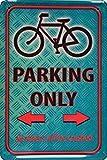 Schatzmix Fahrrad Parking only blechschild, parkschild, tin Sign, metallschild, deko,