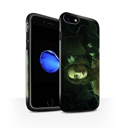 Officiel Elena Dudina Coque / Brillant Robuste Antichoc Etui pour Apple iPhone 8 / Masque d'Hiver Design / Un avec la Nature Collection Bain Caché