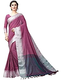 Perfectblue Women's Linen Saree With Blouse Piece (Vanshi9kaLineVariation)