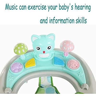 LYXCM Baby Walker 6~18 Monate Multifunktions-Rollover-Klapp-Walker Mit Musik,B