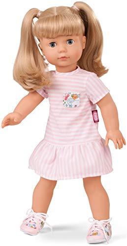 Götz 1690398 Precious Day Girls Jessica Puppe Summertime - 46 cm große Stehpuppe, blonde lange Haare und blaue Schlafaugen - 5-teiliges Set (Puppe Mit Haar)
