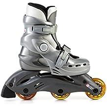 L.A. Sports bambini in Line Skate regolabile, colore: grigio argento, 30–33, 13156