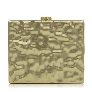 pwne L. In West Woman Fashion Luxus Hochwertige Metallische Unregelmäßige Stereoskopische Abend Tasche Gold