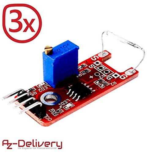 AZDelivery ⭐⭐⭐⭐⭐ 3er Set KY-025 Magnetschalter Reed Sensor Modul mit gratis eBook! -
