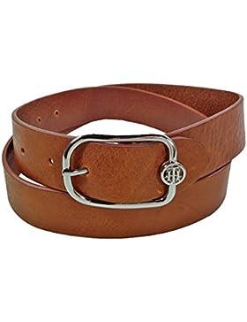 Tommy Hilfiger Damengürtel TH City Belt 3.5 Braun Jeansgürtel Echt Leder Gürtel Ledergürtel Modern Einfach 100 cm