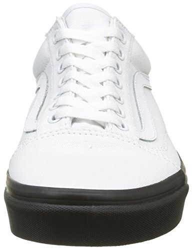 Vans Old Skool, Sneakers Basses Mixte Adulte Blanc (mlx)