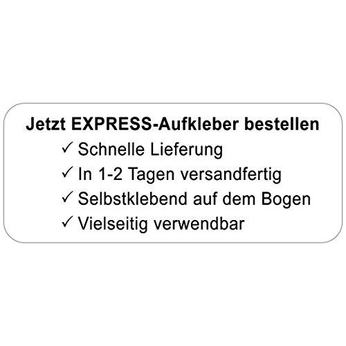 EXPRESS-ETIKETTEN schwarze Schrift | super schnelle Adress-Etiketten mit Wunschtext, 160 Stück, ca. 56 x 23 mm