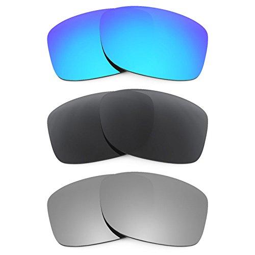Revant Ersatzlinsen für Oakley Jupiter Squared Polarisiert 3 Paar Kombipack K015