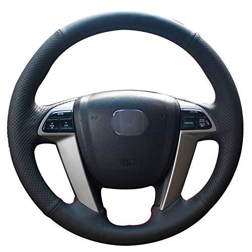 KAIDDRGFH Schwarzes Kunstleder Auto Lenkradbezug für Honda Accord 8 2008-2013 Odyssey 2011-2014 Pilot 2012-2015 (Honda Accord 2015 Leder)