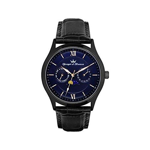 Orologio uomo Yonger & Bresson Blu e Nera–HCN 047-ga2
