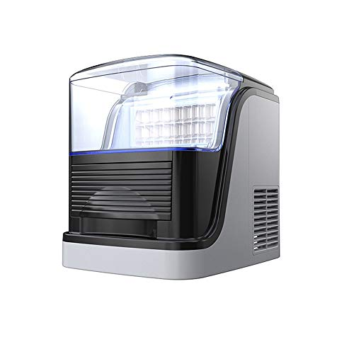 Xyanzi Eiswürfelmaschine Countertop-Eismaschine, tragbare Eismaschine Countertop mit 55lbs Tageskapazität, 24 Eiswürfel bereit in 20 Minuten for RV Camping Home Kitchen Office