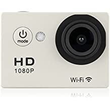 WIFI Y8 Action Sport Cam Waterproof/Impermeabile Full HD H264 1080p 12Mp Video Helmetcam Videocamera Subacquea (Mega Argento Confezione)
