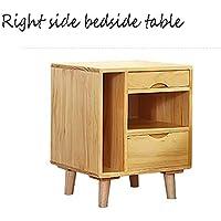 Preisvergleich für Small coffee table Massivholz Nachttisch Dressing Schrank multifunktionale Stauraum, einfach mit Make-up Spiegel zu reinigen, geeignet für Zuhause/Schlafzimmer, Hohe 55cm