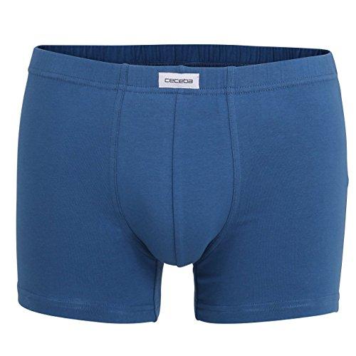 Ceceba Herren Pants, Elastan, Baumwolle, Single Jersey, blau, Uni, 3er Pack 6 -