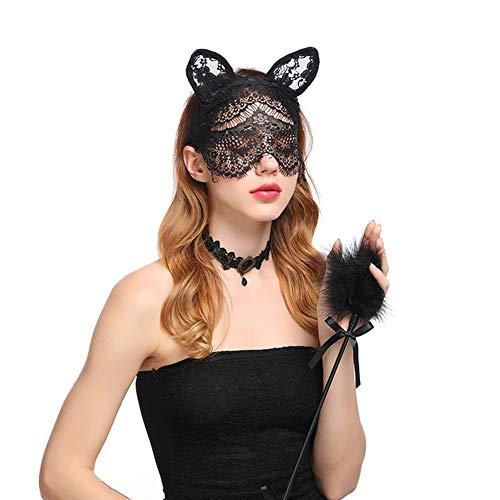 Maske Schleier Stirnband Sweet Bunny Kaninchen Ohr Haarband Für Hochzeits-Party Cosplay Kostüm-Accessoire ()