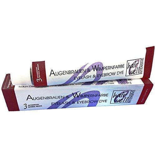 Hairwell Augenbrauen- und Wimpernfarbe Nr. 3 Braun 20 ml Augenbrauen- & Wimpernfarbe Nr. 3 Braun 20...