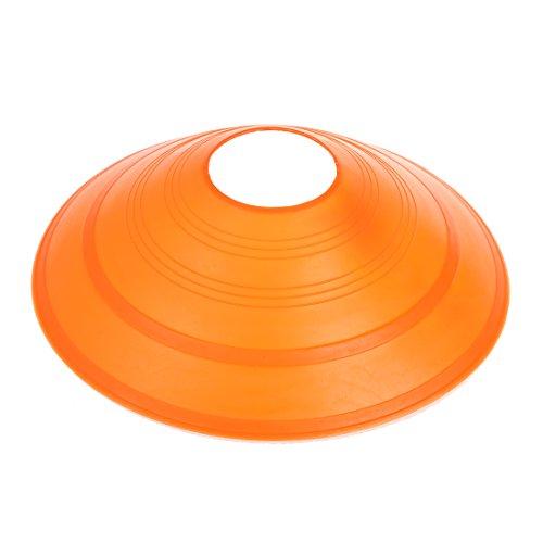Soccer Disc Cone Saucer - SODIAL R  10x Soccer Disc Cone Saucer Football Cross Training Sports Space Marker Landmark orange