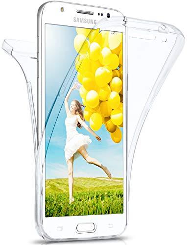 moex® Beidseitige Silikonhülle [Vorder + Rückseite] passend für Samsung Galaxy Note 3 | 360 Grad Cover mit Komplett-Schutz - durchsichtig, Transparent