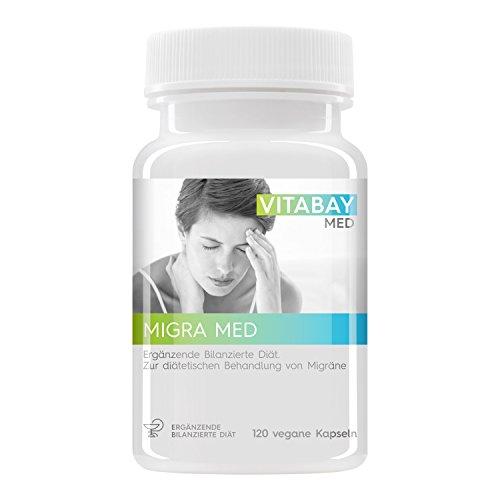Migra MED - 750mg extrait de pétasite avec 200mg Feverfew - (120 capsules végétaliennes)