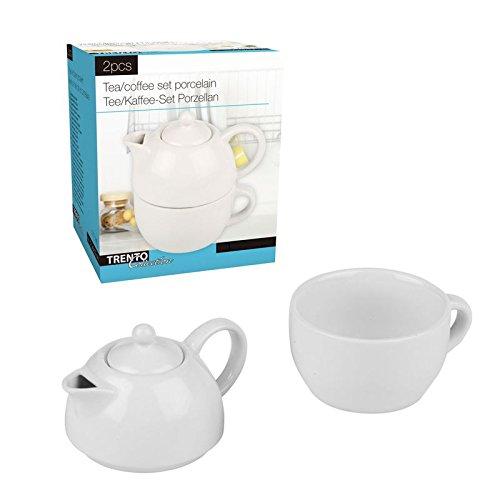 475ml Porzellan Tea for One Kaffeekanne Teekanne Teeservice Kaffeeservice Kanne mit Tasse Set