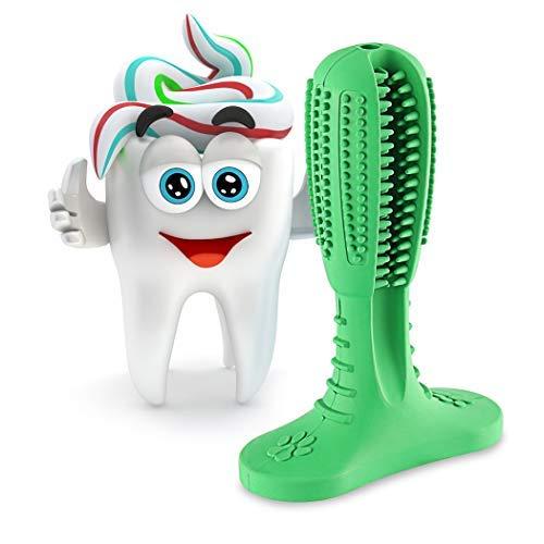 SHANNA Hundezahnbürste, Kauspielzeug für Hunde zur Zahnreinigung, langlebig, Naturkautschuk, ungiftig, für Haustiere