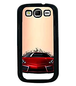 Fuson Designer Back Case Cover for Samsung Galaxy S3 Neo I9300I :: Samsung I9300I Galaxy S3 Neo :: Samsung Galaxy S Iii Neo+ I9300I :: Samsung Galaxy S3 Neo Plus (Red Red car Red Sports Car Stunning Car Race Car)