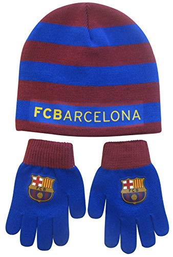 FC Barcelona autumn/winter hat and gloves set