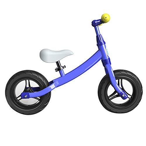 YUMEIGE Laufräder Balance Fahrrad Rahmen aus Kohlenstoffstahl, laufräder kinderlaufrad geeignet for Kinder von 31,4 bis 51,1 Zoll, laufräder PU-Radlast 30 kg (Color : Blue)