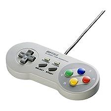 Buffalo Classic Gamepad USB per PC (simile al controller SNES) (Japan Import)