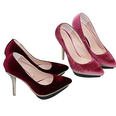 Moda Donna Sandali Sexy donna tacchi Primavera / Autunno tacchi / Piattaforma / Punta nozze tessuto / sera / Casual Stiletto Heel Altri Burgundy