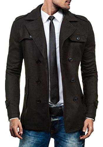BOLF Herrenmantel Mantel Wärmemantel Jacke Coat J.STYLE 3142 Schwarz M [4D4]