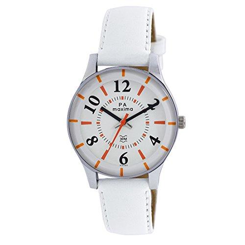 Maxima Analog White Dial Women's Watch-41286LMLI image