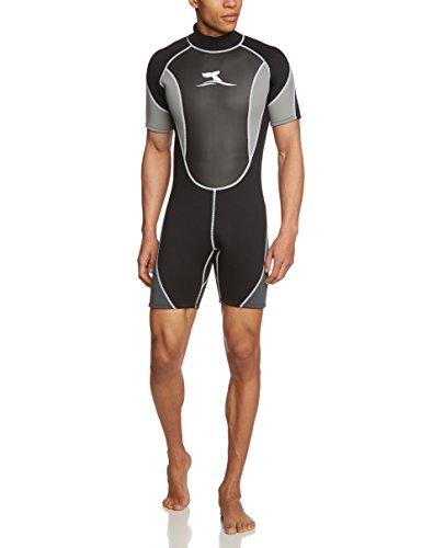 Herren 3 mm Neopren Shorty Surfanzug mit Mesh Skin, Größe XXL 56-58