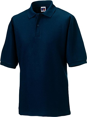 Russell Collection Klassisches Poloshirt aus Mischgewebe R-539M-0 6XL,French Navy