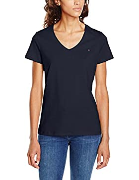 Tommy Hilfiger Inj Jeana V-Nk tee SS, Camiseta para Mujer