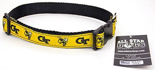 All Star Dogs Georgia Tech Hundehalsband mit Schleife, Größe L, Gelb (Sie Tech Rufen -)