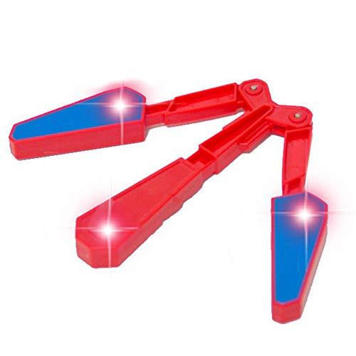 Sungpunet LED Finger Flip Finz Rad Das interaktives Spielzeug der Kinder des Dekompressionsspielzeug Farbe des Butterfly-Messer aus Kunststoff
