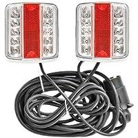 Kit Eclairage LED Remorque Magnetique Aimant 7,5m+2,5m aveec câble