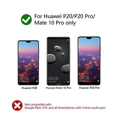Kolpop Adaptateur Jack USB C, 2 en 1 USB Type C vers 3,5mm Aux Audio Adaptateur Câble de Charge pour Huawei P20/P20 Pro/Mate 10 Pro/Mate 20 Pro/Mediapad M5, Xiaomi 6/8, Sony Xperia XZ2 de kolpop