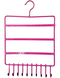 Bulfyss Pink Metal Hanging Jewellery Holder for Earrings and Necklace(27x38cm)