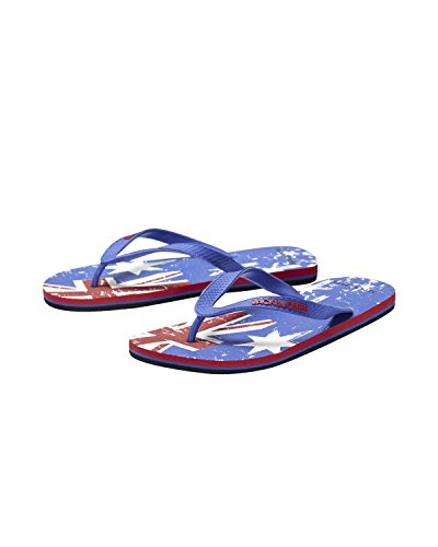 Jack & Jones - JJ Split Rubber Pack Flip Flop - Zehentrenner - div. Farben Blau (Ribbon Red jjFLAG 2)