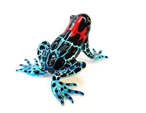 Lampwork COLLECTIBLE MINIATURE HAND BLOWN Art GLASS New Magic Frog FIGURINE
