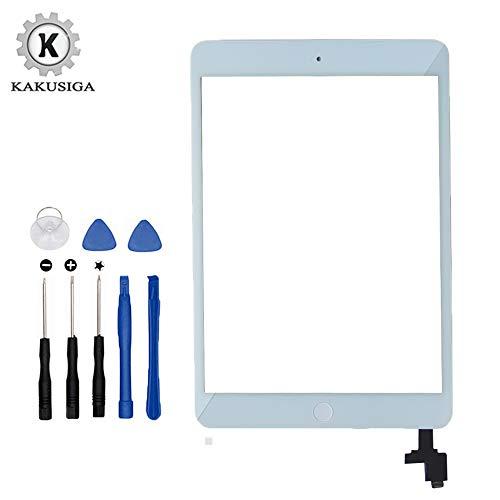 Kakusiga Kit de Remplacement d'écran pour iPad Mini 1 & 2 (Blanc) 7.9 Pouces avec Vitre Tactile,...